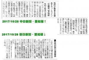 20171028_虹色電話相談・新聞記事・朝日中日